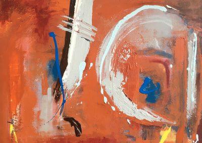 Abstract 2, 70 x 50cm, Acrylic on Canvas.