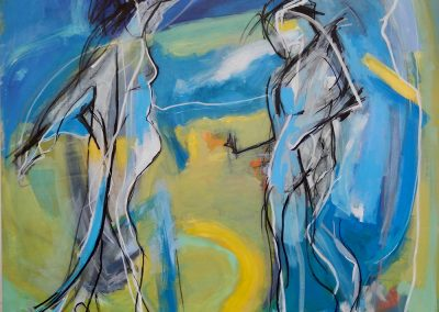 In The Blues, 155 x 155cm, Acrylic on Canvas