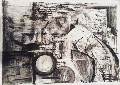 Landscape, 94 x 70cm, Charcoal on Paper