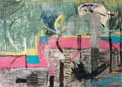 Landscape II, 94 x 70cm, Acrylic & Chalk on Paper