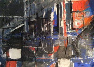 Landscape III, 94 x70cm, Acrylic & Chalk on Paper
