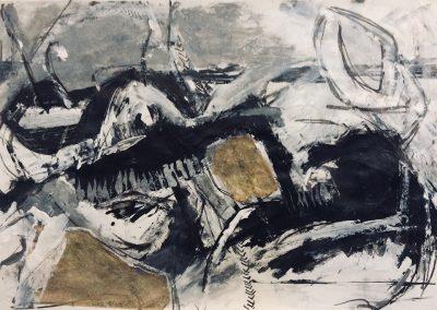 Landscape IV, 94 x 70cm, Charcoal & Chalk on Paper