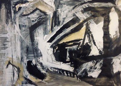 Landscape V, 94 x 70cm, Charcoal & Chalk on Paper