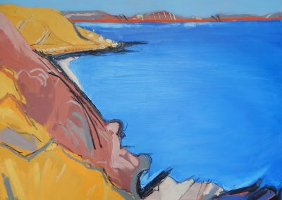 Wendy Rolt, Talland Bay, Cornish Coast 10, 162 x 92cm, Oil on canvas
