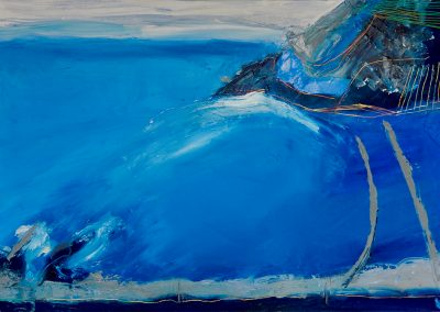 Wendy Rolt, Lantic Bay, Cornish Coast 7, 121 x 91cm, Oil on Canvas