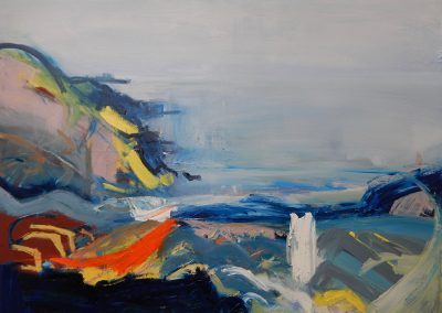 Wendy Rolt, Talland Bay, Cornish Coast 8, 121 x 91cm, Oil on canvas, SOLD