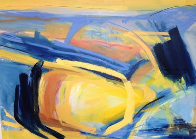 Wendy Rolt, South Downs 2 - 92 x 122cm. Oil, charcoal on canvas.