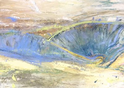 Wendy Rolt, Sussex Landscape - Oil, paper on board.