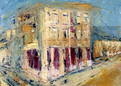 Wendy Rolt, Darbyshire Street, Oil on Canvas, SOLD