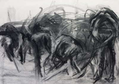 Movement, 59 x 84cm, Charcoal on Paper, SOLD