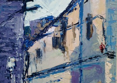 Wendy Rolt, Voss Street, 60 x 39cm, Oil on Canvas