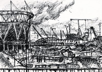 Olympic Site 5, 15 x 21cm, Ink on Paper