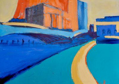 London Bridge, 122 x 92cm, Oil on Canvas