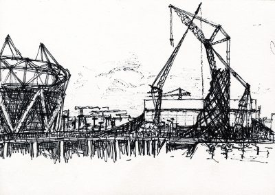 Olympic Site 6, 15 x 21cm, Ink on Paper