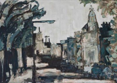 Pollard Row, Oil & Enamel on Canvas, SOLD