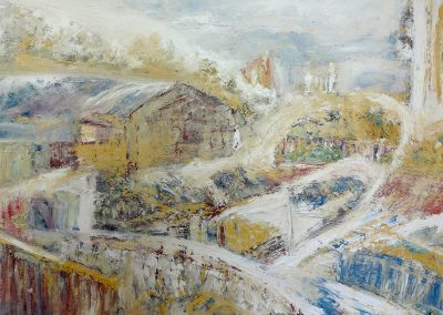 Wendy Rolt, Hackney Wick 7, Oil on Board, SOLD