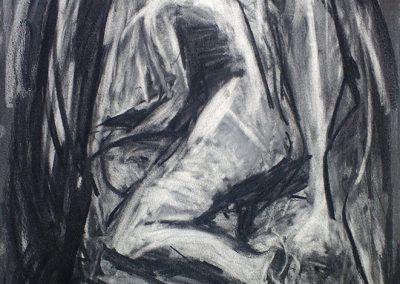 Nude Drawing V, 80 x 50cm, Charcoal n Paper