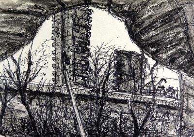 Westway, 15 x 21cm, Pencil on Paper