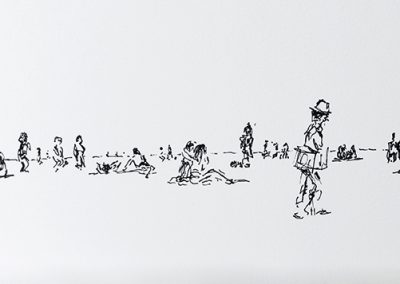 Hyde park, 12 x 42cm, Pen On Paper