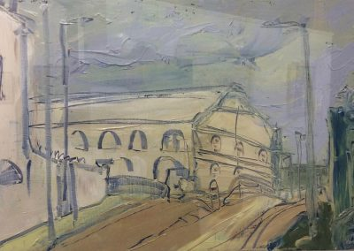 Wendy Rolt, Whitepost Lane, Oil on Canvas, SOLD.