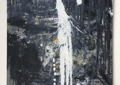 """Field Landscape """"Moonlight Shadow"""", Oils, 2021"""
