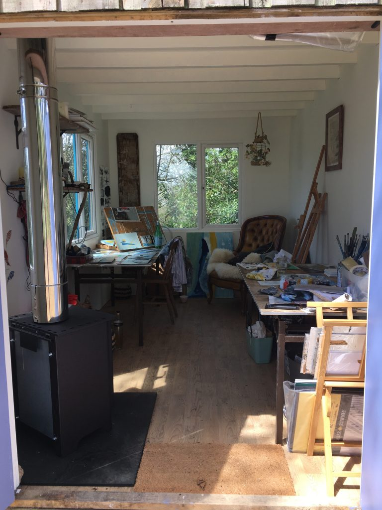 Wendy Rolt studio in Cornwall
